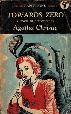 Towards Zero by Agatha Christie. Pan edition, 1948. Vintage Pan paperback book cover.