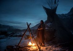 The Revenant - behind-the-scenes pictures.