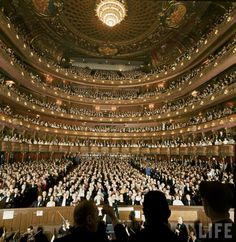 """Metropolitan Opera House, New York, NY  The final performance at the old Met was held on the night of April 16, 1966, during which Conductor Leopold Stokowski addressed the audience from his podium stating, """"I beg you to help save this magnificent house."""" The building, which was razed in 1967, was one of the greatest losses New York City has seen since the creation of the New York City Landmarks Preservation Commission. Today, the building is a corporate skyscraper which houses retail like…"""