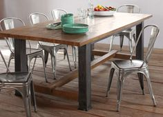 Sundance. I love butcher block tables, but this is a toned down version that is very elegant.