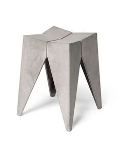 The Concrete Bridge Stool designed by Henri Lavallard Boget for Lyon Beton, has a bold sculptural shape which heightens the industrial aesthetic. Elegant and practical, the stool is perfect as a stool