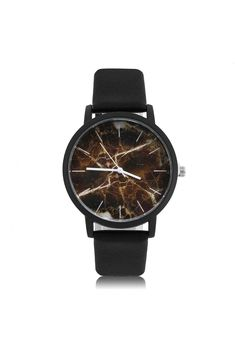 PU Leather Strap Quartz Wristwatches Vintage Marbling Pattern Products Properties: Movement:Quartz Shell material:metal Band length:23.5cm Band material:PU leather Band width:2cm Clasp Type:Buckle Shell diameter:4cm Case Material: glass  Package included: 1 PC x  Watch #watches #creativewatch