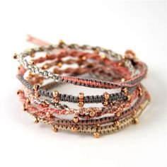 love these bracelets - no tutorial, but some ideas for making