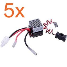 58.90$  Buy now - http://ali2wb.worldwells.pw/go.php?t=32527976984 - 5pcs High Voltage 320A BRUSHED ESC Brush Speed Controller Reverse Brake RC HSP 1/10 1/8 Car Monster Truck Buggy Himoto Redcat 58.90$