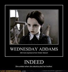 hahah so true! I luv Wednesday! Movie Quotes, Funny Quotes, Funny Memes, Hilarious, Addams Family Quotes, The Addams Family, Penelope Cruz Makeup, Writing Pictures, Wednesday Addams