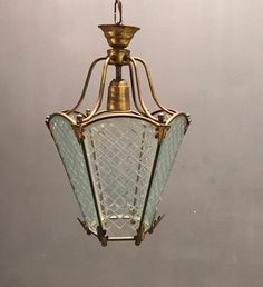 Excited to share this item from my #etsy shop: Vintage Italian Bronze and Etched Glass Pendant Light, Hall Lantern Fixture, Free Shipping, Wiring Comp USA #crystallantern #hatpendantlight #etsypendantlight #etsychandelier