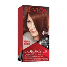 Hair Color Images, Hair Color Pictures, Revlon Hair Dye, Platinum Hair Dye, Dark Auburn Hair Color, Light Auburn, Ammonia Free Hair Color, Revlon Colorsilk, How To Dye Hair At Home