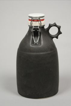 A gorgeous hand-made, stoneware growler by Portland Growler Co. I want.