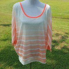 Orange dolman sleeve top Gradient ombre color up top.  Super comfortable!  24/25 inch bust Tops