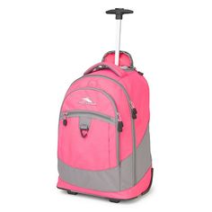 Love this Flamingo & Charcoal Chaser Wheeled Backpack on Girls Rolling Backpack, High Sierra Backpack, 20 Inch Wheels, Backpack With Wheels, Skate Wheels, Backpack Reviews, Laptop Backpack, Online Bags, Luggage Bags