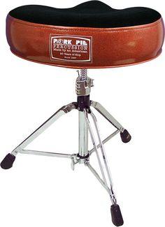 Pork Pie 20th Anniversary Drum Throne Orange Sparkle  sc 1 st  Pinterest & Pork Pie Percussion Round Drum Throne- best throne in the business ... islam-shia.org