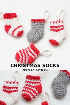 Christmas garland, crochet pattern PDF, christmas decor for home. Crochet Christmas Stocking Pattern, Crochet Christmas Ornaments, Christmas Knitting, Christmas Decor, Crochet Animal Patterns, Crochet Patterns Amigurumi, Crochet Yarn, Handmade Soft Toys, Handmade Ideas