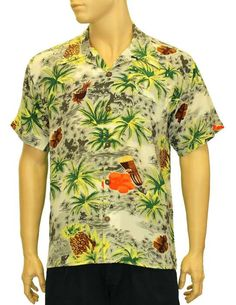 Silk Tropical Drums and Palms Aloha Hawaiian Shirt – Twisted Palms Trading Co.