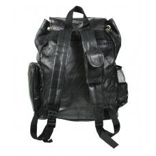 Rothco Black Patchwork Leather Backpack