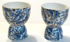 LEFTON china BLUE PAISLEY #2131 egg cups