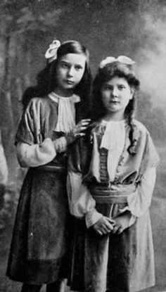 "Princesses Irina and Natalie Pavlovna Paley.  ""AL"""