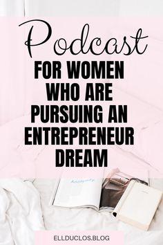 The best podcast for women who are going after an entrepreneur dream. Entrepreneur Motivation, Entrepreneur Inspiration, Business Entrepreneur, Business Tips, Business Women, Online Business, Business Formal, Starting A Podcast, Girl Boss