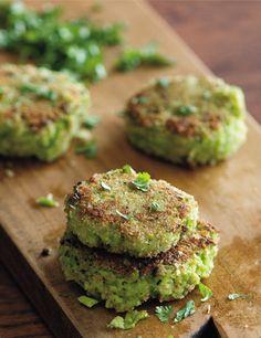 Crispy Edamame Fritters. Get the recipe via @PureWow