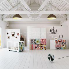 Mueble infantil vintage. Diseño mobiliario www.alondra-infantil.es