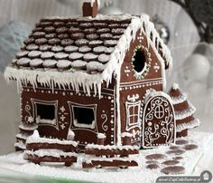 Domek z piernika - Cupcake_Factory Christmas Appetizers, Christmas Sweets, Christmas Cooking, Gingerbread Decorations, Gingerbread Cookies, White Gingerbread House, Gingerbread Houses, Cupcake Factory, Honey Cake
