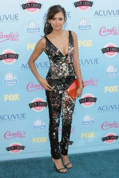 The Best Looks from the 2013 Teen Choice Awards; Nina Dobrev in J. Mendel