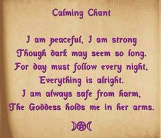 Calming chant, Boy, I need this one sometimes*