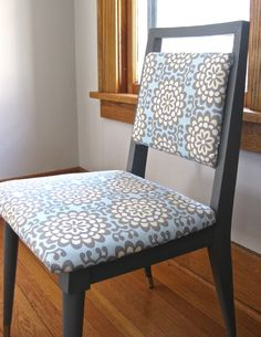 Pretty sitting chair (love the Amy Butler fabric)