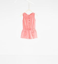 Embroidered dungarees-DRESSES AND JUMPSUITS-BABY GIRL | 3 months-3 years-KIDS | ZARA United Kingdom