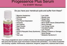 PROGESSENCE PLUS or PROGESSENCE PHYTO PLUS in some countries... Please add any testimonials as this incredible oil could change many women's lives.