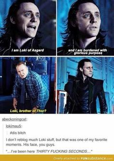 Clearly very burdened with not-so-glorious purpose, seeing how he looks so awful in that scene!