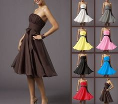 Women Prom Stock Formal Bridesmaid Cocktail Ball Gown Evening Party Dress