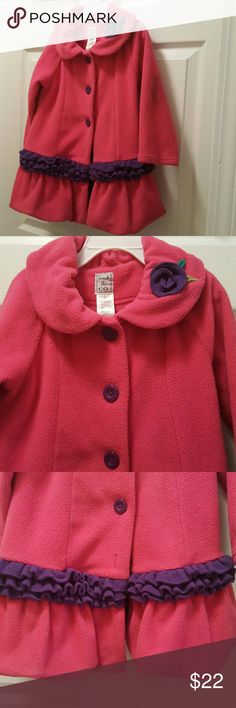 Coat.toddler 4.. Adorable little fleece coat! it is not lined ,it is Pink and purple and the cutest little thing for a little girl to wear !!my granddaughter wore only  few times! she grew too fast mack& company Jackets & Coats Puffers
