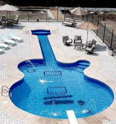 Guitar Swimming Pool | Most Beautiful Pages