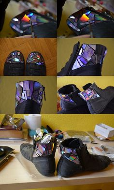 Shoes Use for you old CD's