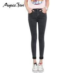 Shop Successg New Spring Autumn Women Ankle-Length Cuffs Black Jeans Students Stretch Skinny Female Slim Pencil Pants Denim Ladies Trousers Gray Jeans Free delivery and returns on eligible orders. Cuffed Jeans, Grey Jeans, Black Skinnies, Slim Jeans, Skinny Jeans, Women's Jeans, Ankle Length Pants, Trousers Women, Winter