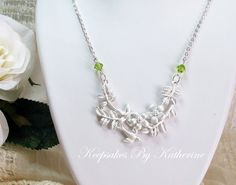Bird of happiness in the enchanted forest necklace by Keepsakes By Katherine for the dreamer in you