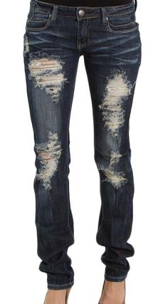 MACHINE Distressed Skinny Jeans - Double Dark Wash from Closet ...