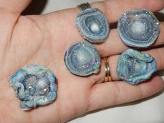 """cosmicbouquet: """" pukakke: """" Rainbow Quartz/Chalcedony Druzy Roses or tiny galaxies """" What if this is all that we are. """""""