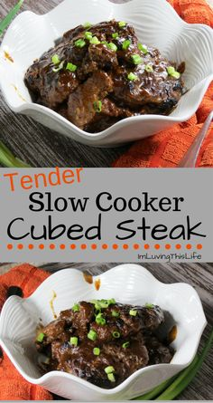 Best Cubed Steak Recipe I've ever made. My kids LOVED it and thought I slaved all day in the kitchen. Little did they know this tender cubed steak was a slow cooker recipe!