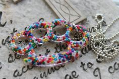 Crushed Candy Real Sprinkle Knuckle Necklace by tranquilityy, $5.99
