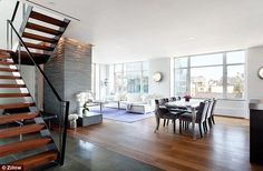 Great views: Thethree-bedroom, two-bathroom 2,400-square-feet penthouse duplex is light a...