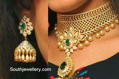 Bridal Diamond Necklace and Jhumkas