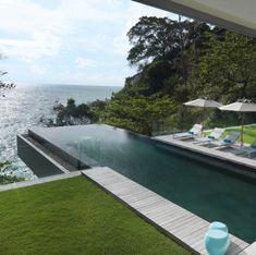 Villa Amanzi Kamala - Luxurious infinity pool villa in Phuket with 6 bedrooms. Welcome to Villa Amanzi Kamala Pool Bad, Piscina Hotel, Villa Phuket, Moderne Pools, Swiming Pool, Beautiful Pools, Dream Pools, Swimming Pool Designs, Garden Pool