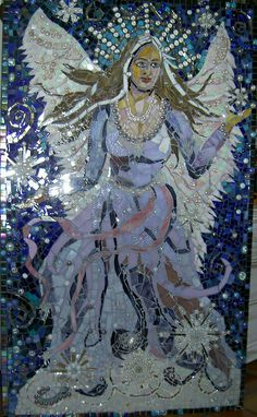Snow Queen Faerie by Grandmother Moon Mosaics, via Flickr