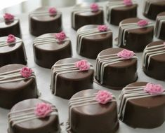 Chocolate Covered Treats, Tasty Chocolate Cake, Chocolate Shop, Chocolate Truffles, Mini Desserts, Easy Desserts, Dessert Recipes, Mini Cakes, Cupcake Cakes