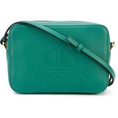 Lanvin 'So Lanvin' crossbody bag ($1,055) ❤ liked on Polyvore featuring bags, handbags, shoulder bags, bolsos, green, crossbody handbags, purse crossbody, blue purse, handbags crossbody and crossbody shoulder bag