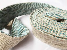 Yoga Belt - BLUE : Handmade with organic hemp and cotton, one side hemp for durability and the other side cotton for comfort. Gives you extra support in challenging positions. Comes in 4 color variations. The hemp is in its natural color, while the cotton details are in black, green, blue or orange. Made in the Himalayas with love for the environmental conscious yogis and nature lovers.