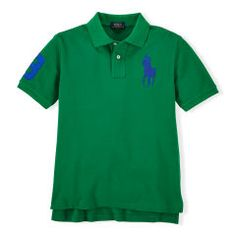 Custom-Fit Big Pony Polo Shirt - Boys 8-20 Polo Shirts - RalphLauren.com