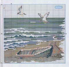 Landscape_Seashore - 3/4 Solo Patrones Punto Cruz (pág. 390) | Aprender manualidades es facilisimo.com