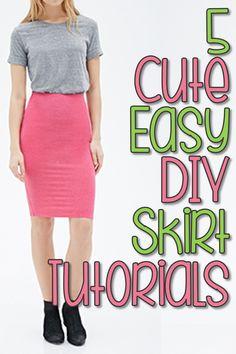 5 Super Cute, Super Easy DIY Skirts
